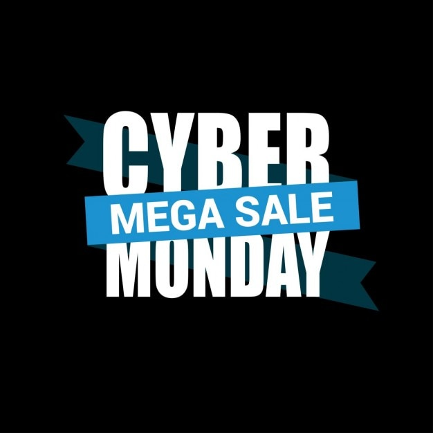 Black and blue background, cyber monday