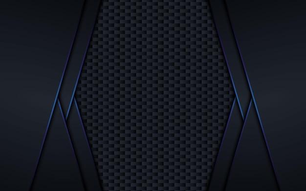 黒青の背景デザインイラスト