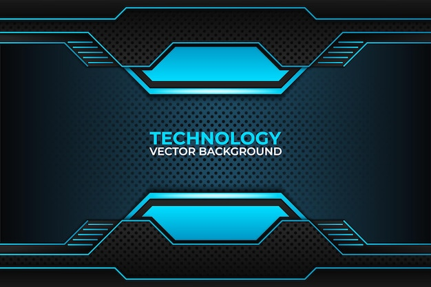 Black and blue background design technology corporate business template