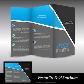 Black and blue brochure
