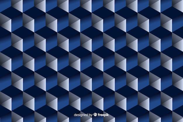 Black and blue geometric shapes design