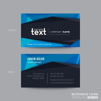 Black and blue modern business card