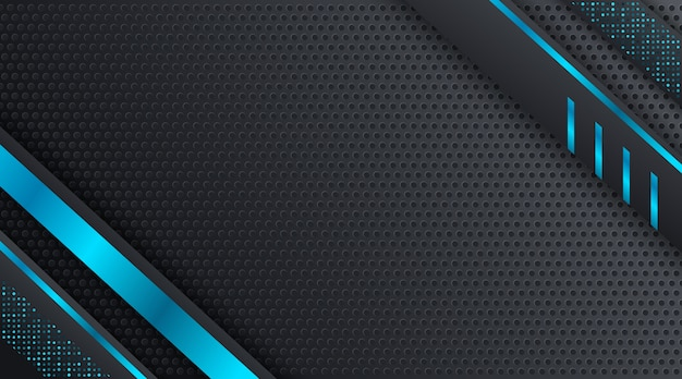 Black and blue techno corporate business background design template Premium Vector