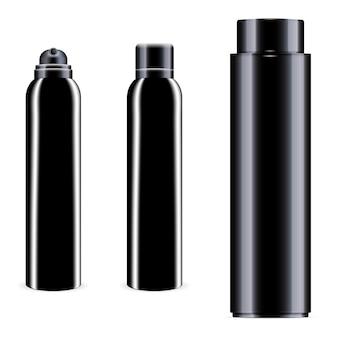 Пустая черная бутылка.