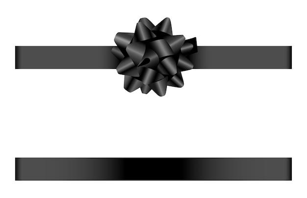 Черный бант и лента