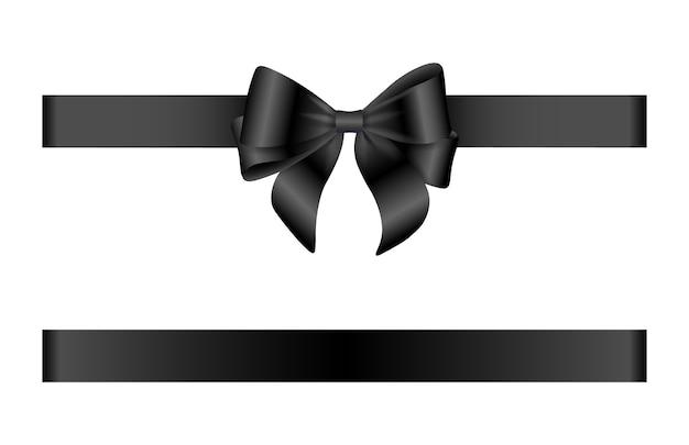 Black bow and ribbon