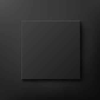 Black box isolated on black background
