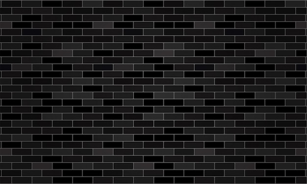 Black brick wallpaper and texture background