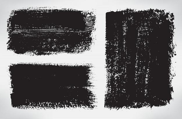 Black brush stroke banners