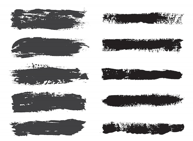 Black brush stroke collection
