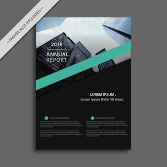 Black business brochure with blue details