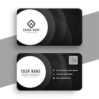 Black business card in modern style