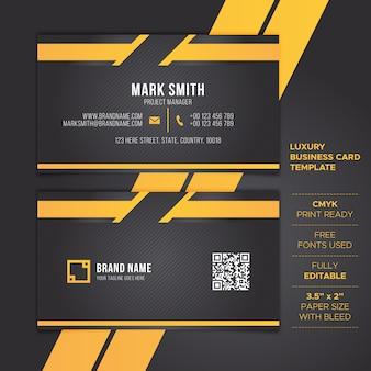 Black business card template
