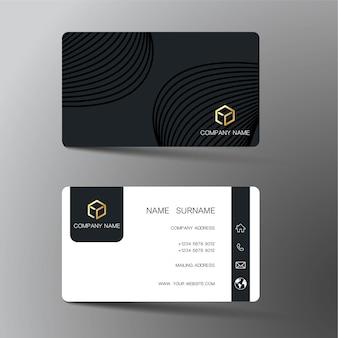 Черная визитная карточка