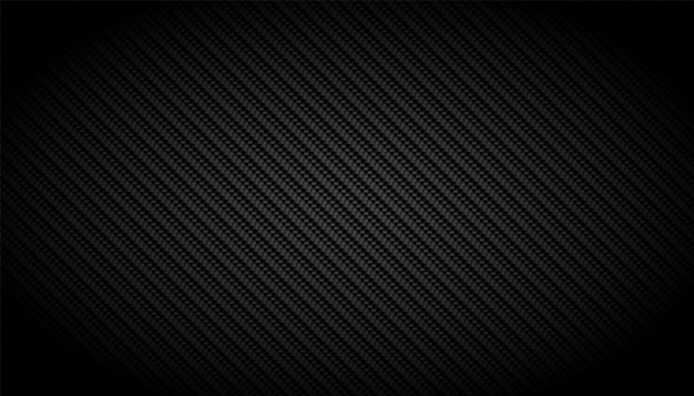 Fondo nero del modello di struttura della fibra di carbonio