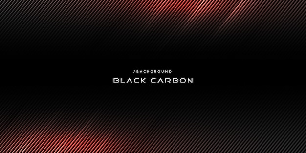Black carbon textured background with red light