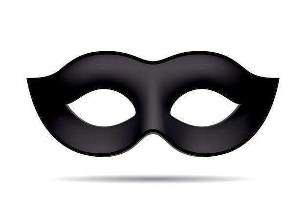 Черная карнавальная маска