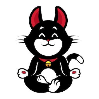 Black cat yoga