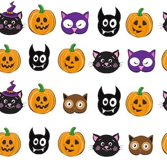 黒猫のシームレスなパターン