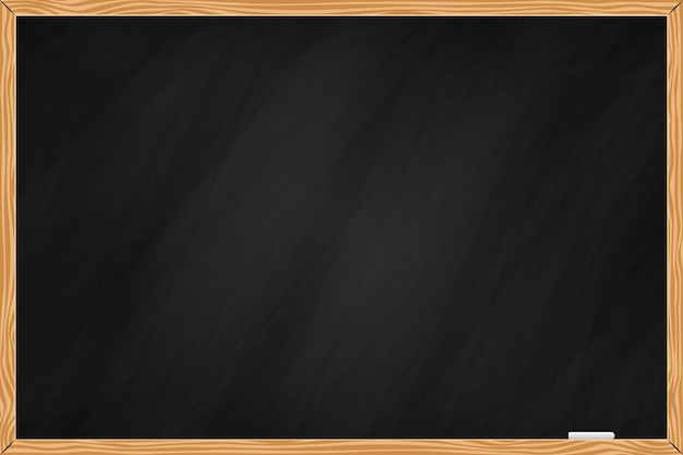 Black chalkboard background with wood rim
