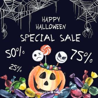 Black chalkboard sales with cobweb