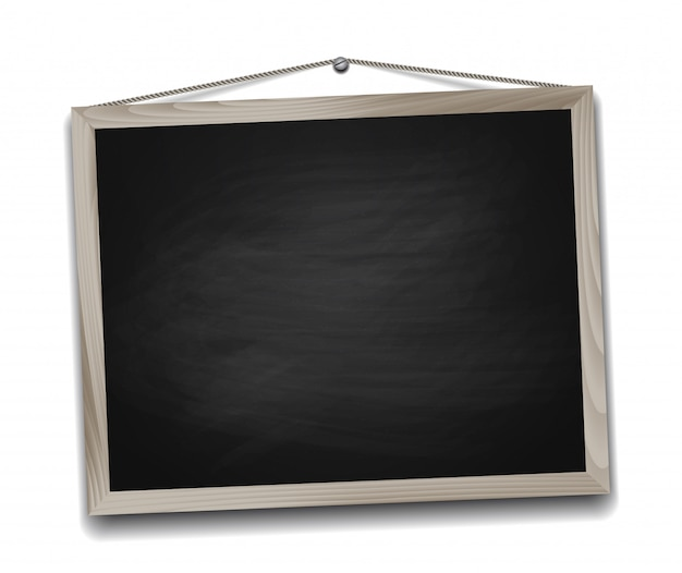 Black chalkboard in wooden frame. back to school background