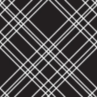 Black check diagonal seamless pattern