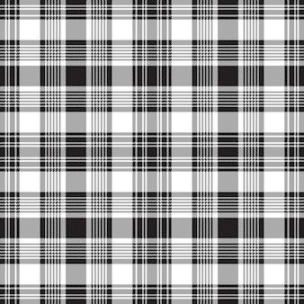 Black check fabric texture seamless pattern