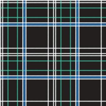 Black check plaid fabric texture seamless pattern