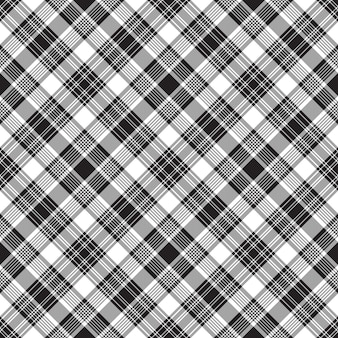 Black checkered tartan seamless pattern