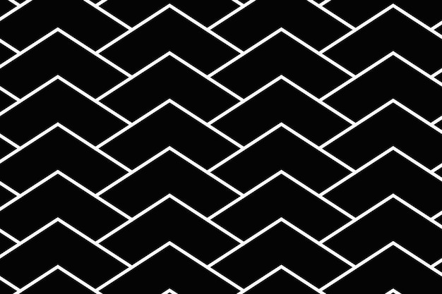 Black chevron background, simple pattern design vector
