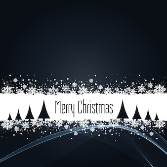 Black christmas background with snowflakes