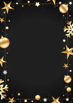 Black christmas frame with place for your text