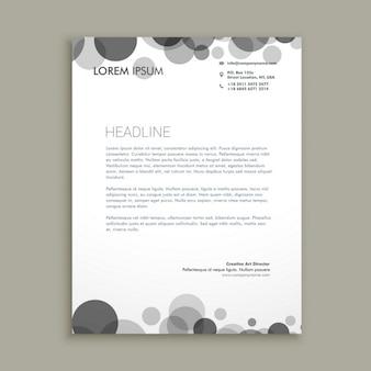 Black circles corporate letterhead