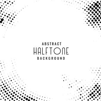 Black circular halftone pattern background
