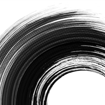 Black circular watercolor background