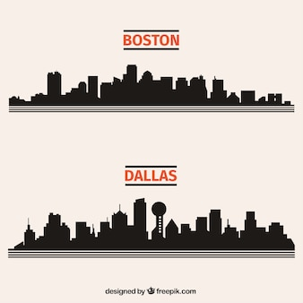 Black city skylines