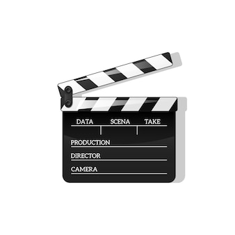 Black clap open black object element for movie making