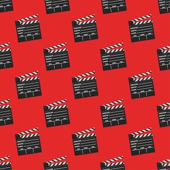 Black closed clapperboard pattern. vector illustration.