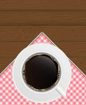 블랙 커피 배경입니다. 사실적인 벡터