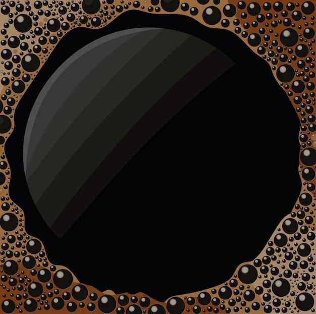 Black coffee card