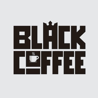 Black coffee letterng concept design