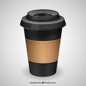 Black coffee package Free Vector