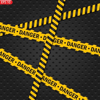 Black and color caution lines isolated. realistic warning tapes. danger signs.  background.