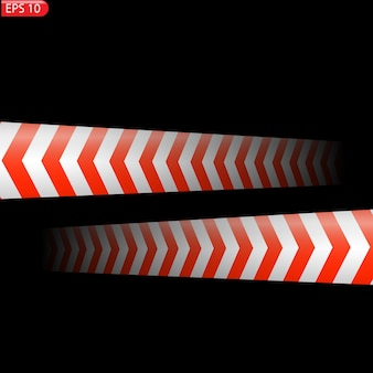 Black and color caution lines isolated realistic warning tapes danger