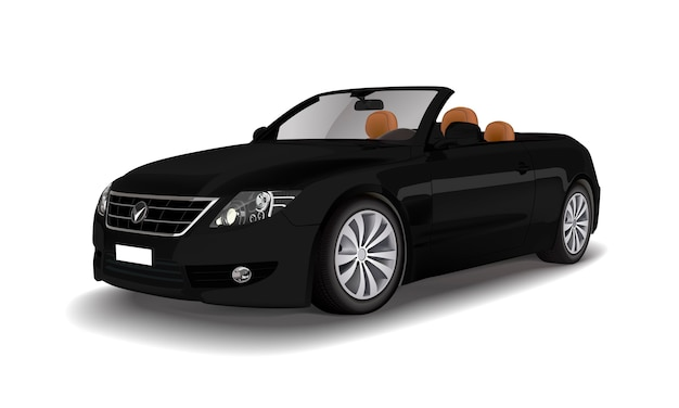 Black convertible car