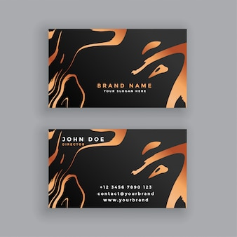 Black and copper business card design