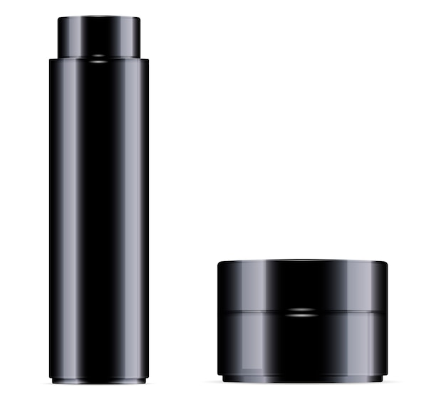 Black cosmetic bottle for toner