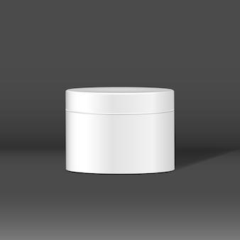 Black cosmetic jar mockup