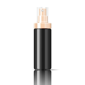 Black cosmetics bottle can sprayer container